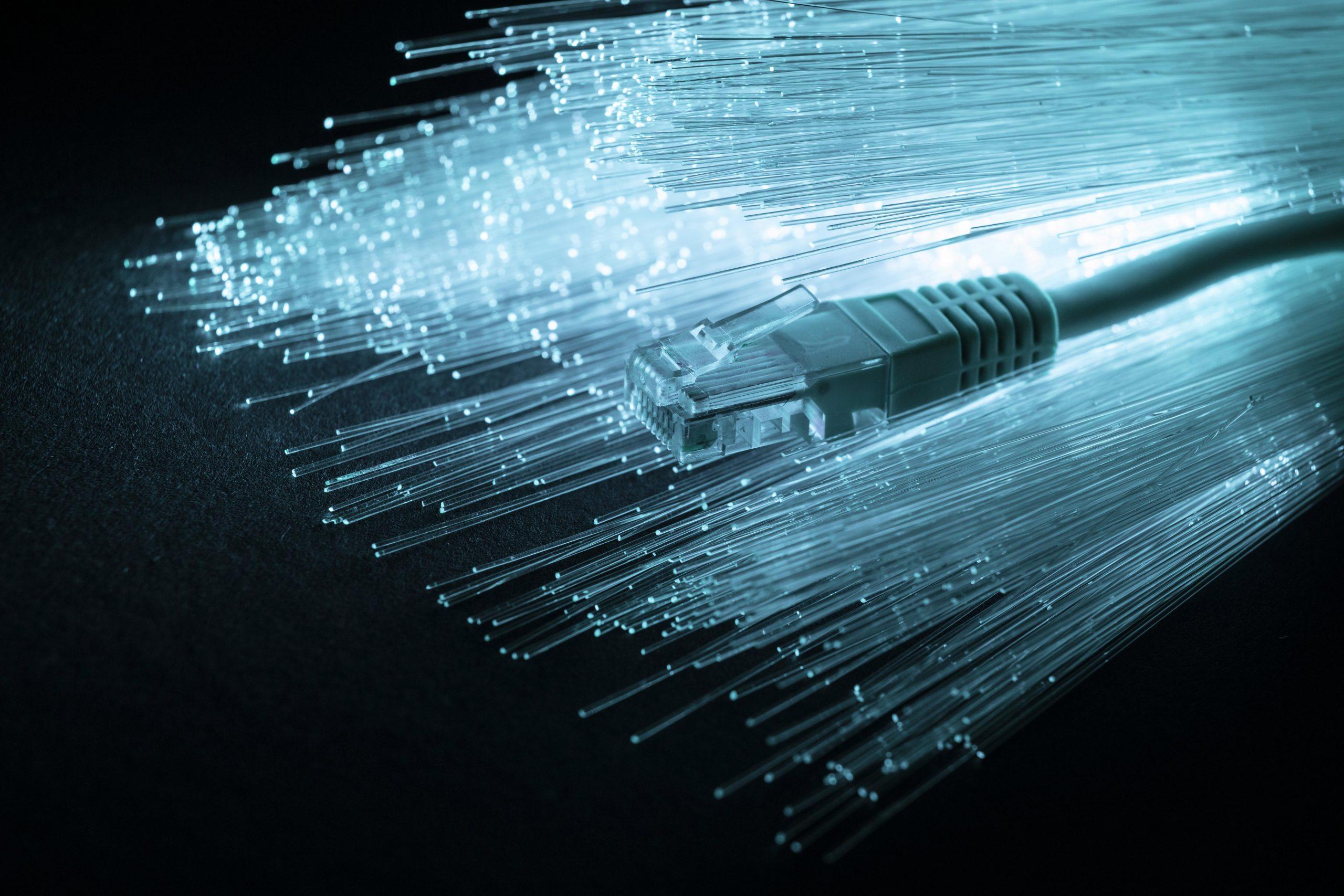 Telecoms broadband fibre optics cable